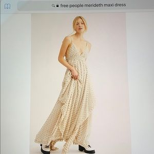 Free people Meredith maxi dress nwt